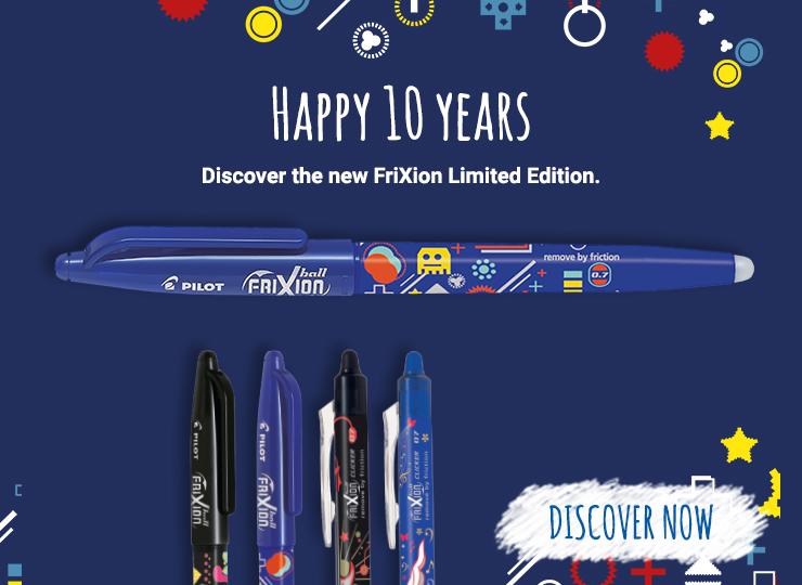 Pilot FriXion erasable pens : 10 years