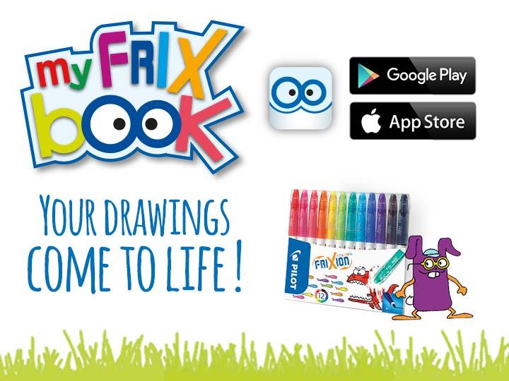 My FriX Book Pilot App with erasable felt pens