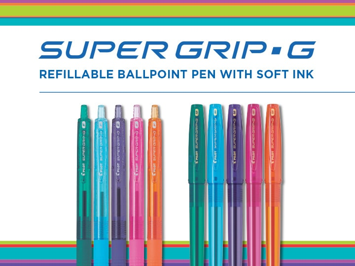 Super Grip G Soft ink ballpoint pen by Pilot
