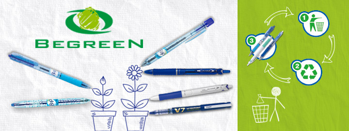 Begreen range by Pilot