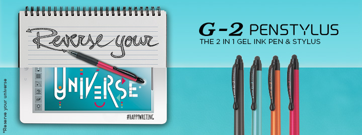 Pilot G-2 Penstylus - Gel ink rollerball with stylus
