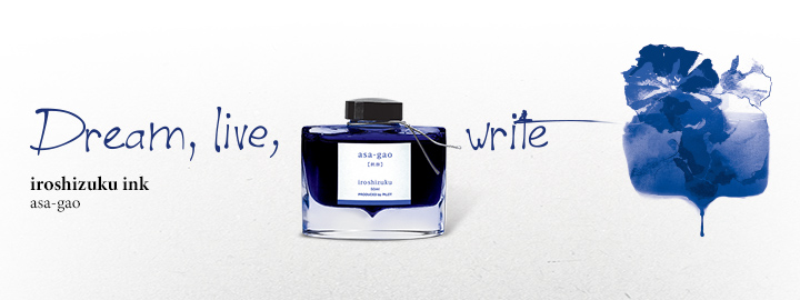 Iroshizuku Ink Blue -  Pilot Fine writing