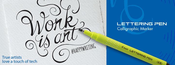 Lettering pen - Fineliner marker pens by Pilot