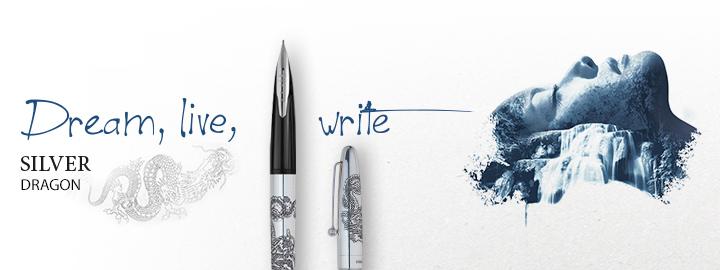 Silver dragon - Pilot Fine writing