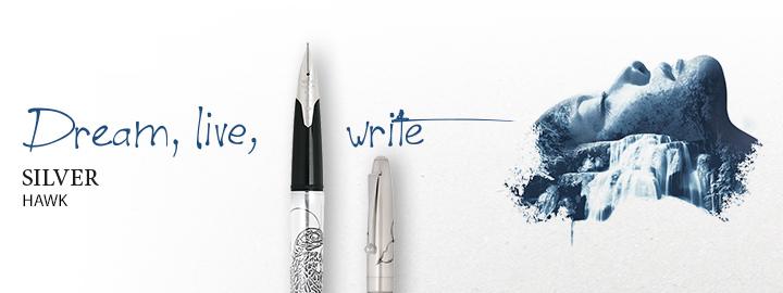 Silver hawk - Pilot Fine writing