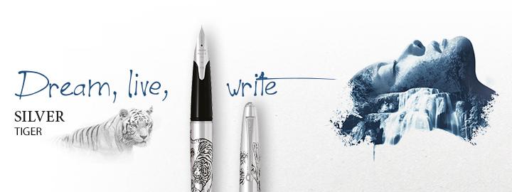 Silver tiger - Pilot Fine writing