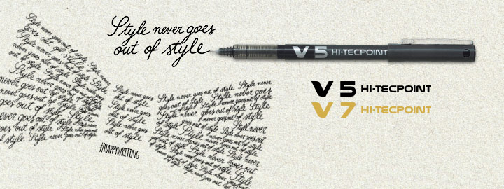 Liquid ink rollerball V5/V7 by Pilot