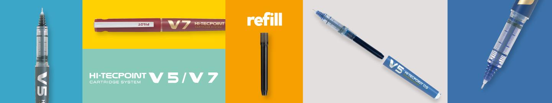 Pilot - Liquid ink rollerball - V5/V7 Refillable