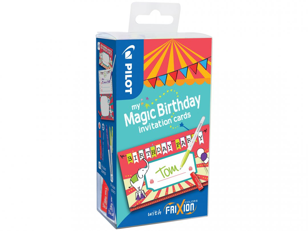 FriXion Colors - My Magic Birthday Cards - Circus - Assorted colours - Medium Tip