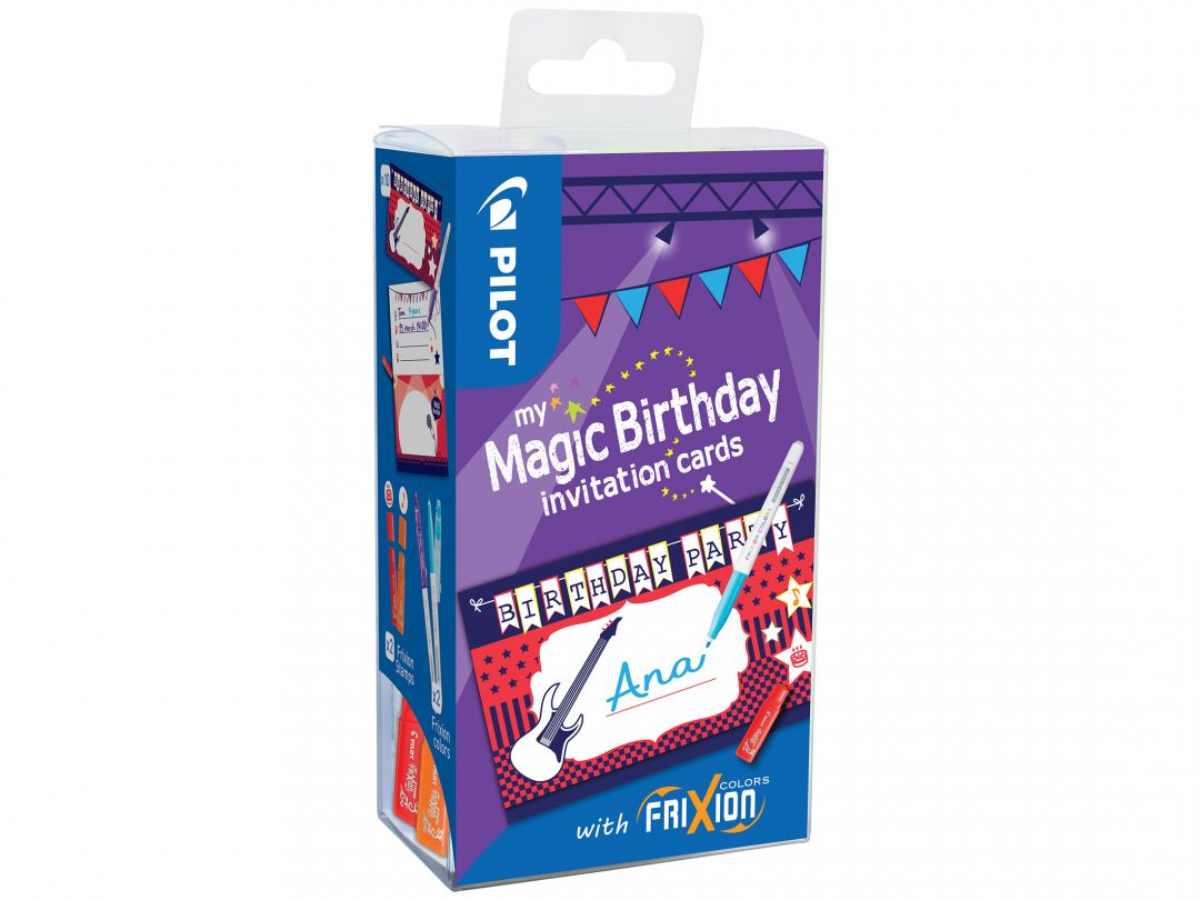 FriXion Colors - My Magic Birthday Cards - Music - Assorted colors - Medium Tip