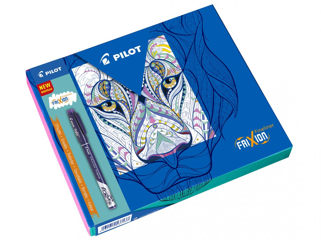 FriXion Fineliner - Colouring Giftbox - Black, Blue, Light Blue, Violet, Lime Green - Fine Tip