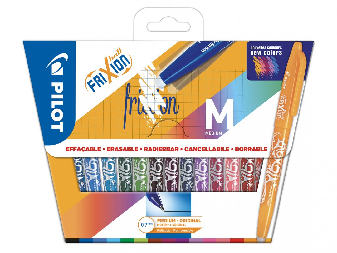 FriXion Ball - Wallet of 15 - Assorted colours - Medium Tip