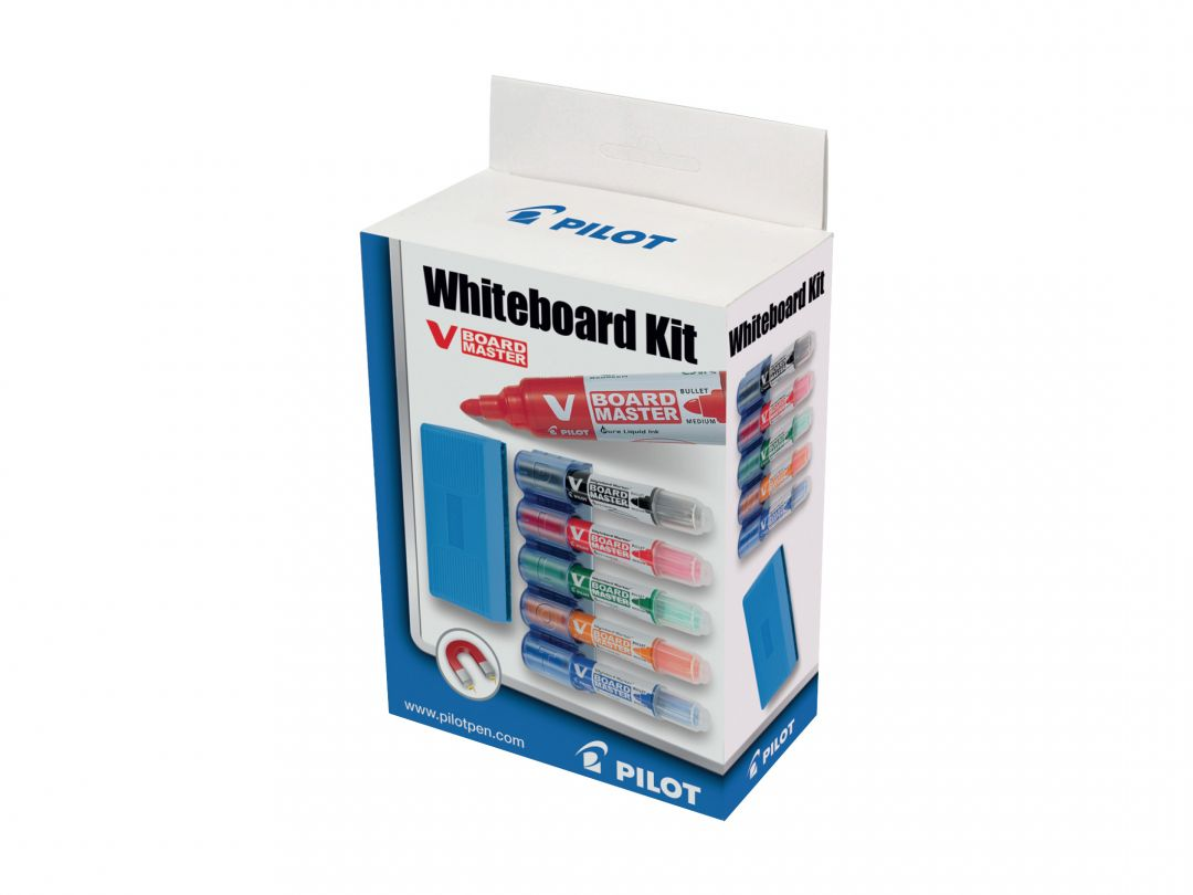 V-Board Master - Whiteboard Kit - Assorted colours - Medium Tip