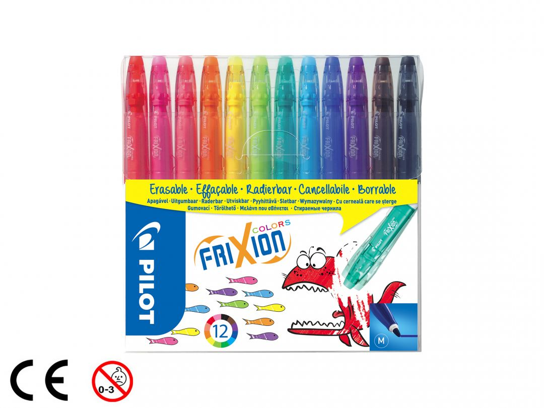FriXion Colors - Set of 12 - Assorted colours - Medium Tip
