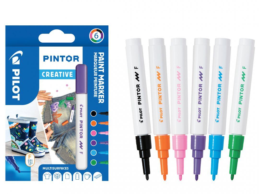 Pilot Pintor - Wallet of 6 - Creative colours - Fine Tip