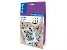 Pilot Pintor - DIY Bag Kit - Yellow, Violet, Light Blue - Fine Tip