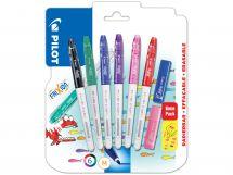 Blis 6 FriXion Colors B/G/L/V/P/R +2 Stamps L/P