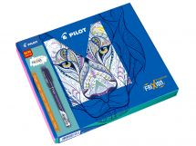 FriXion Fineliner - Colouring Giftbox - Black, Blue, Light Blue, Violet, Light Green - Fine Tip