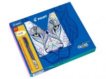 FriXion Fineliner - Colouring Giftbox - Black, Red, Pink, Orange, Yellow - Fine Tip
