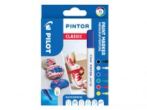 Pilot Pintor - Marker - Classic - Wallet of 6 - Assorted colors - Extra Fine Tip