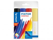 Pilot Pintor - Marker - Essentials - Wallet of 4 - Assorted colors - Broad Tip