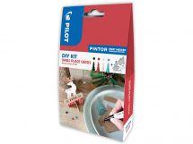 Pilot Pintor - DIY Christmas Place Cards Kit - Black, Red, White, Metallic Green - Fine Tip