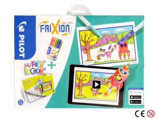 FriXion Colors - Set My FriX Book x 6 - Assorted colors - Medium Tip
