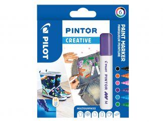 Pilot Pintor - Wallet of 6 - Creative colours - Medium Tip