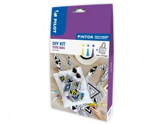 Pilot Pintor - DIY Bag Kit - Yellow, Violet, Light Blue - Fine Tip