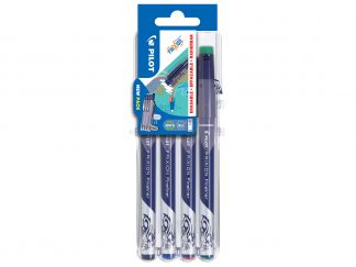 FriXion Fineliner - Evolutive Set of 4 - Black, Blue, Red, Green - Fine Tip