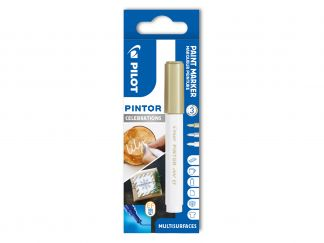 Pilot Pintor - Celebrations - Wallet of 3 - White, Gold, Silver - Extra Fine Tip