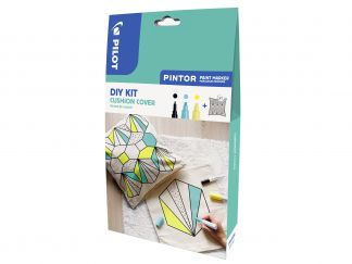 Pilot Pintor - DIY Cushion Cover Kit - Black, Pastel Yellow, Pastel Green - Fine / Broad Tip