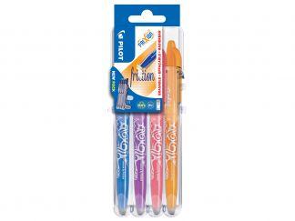 FriXion Ball - Set2Go - 4 pens - Sky Blue, Purple, Coral Pink, Apricot - Medium Tip