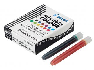 Parallel Pen - Set of 12 Cartridges - Assorted colours - Liquid Ink