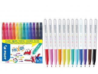 FriXion Colors - Felt Pen - Set of 12 - Assorted colors - Medium Tip