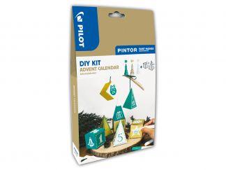 Pilot Pintor - DIY Advent Calendar Kit - Green, Gold, White - Assorted Tips